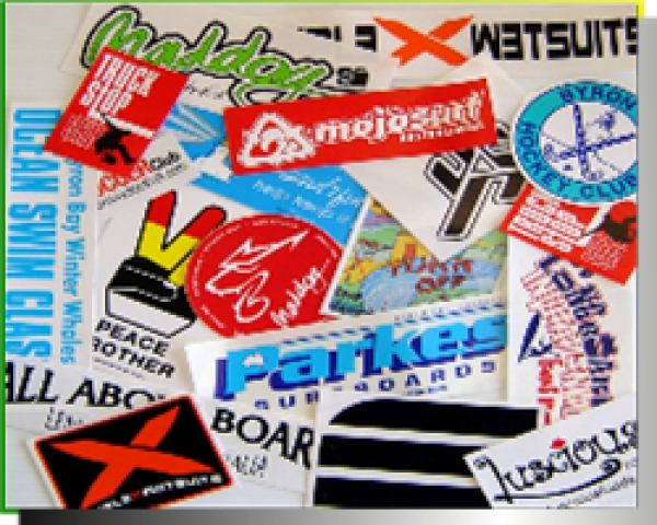 STICKERS, TRANSFERS & SURFBOARD DECALS